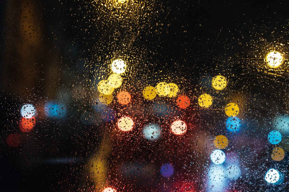 assorted-color bokeh lights during night time