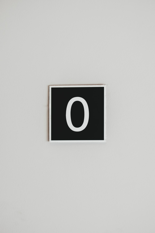 number Zero wall signage