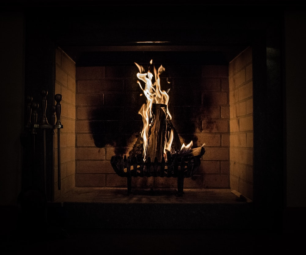 long exposure photography of fireplace
