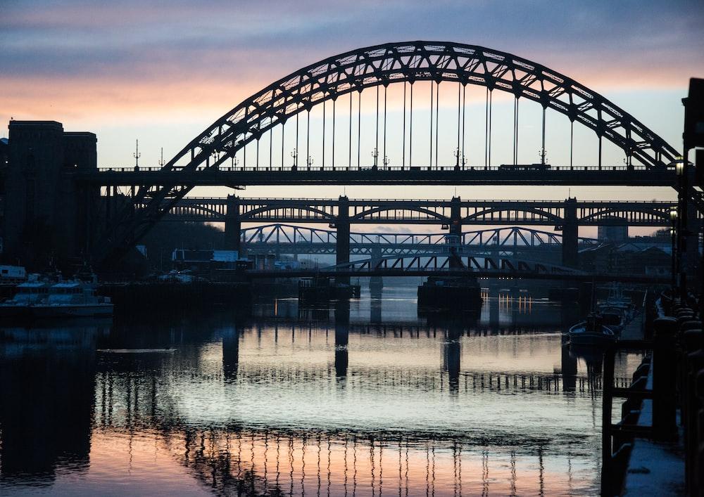 photo of black bridge