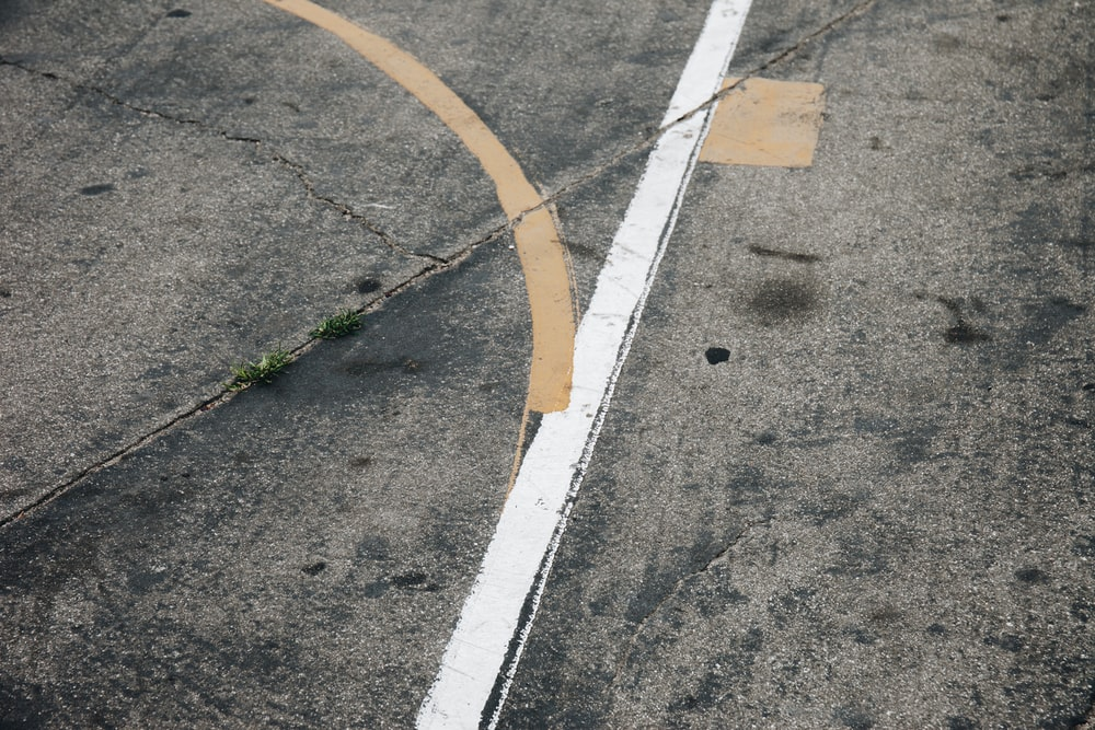 aerial view photography of empty roadway