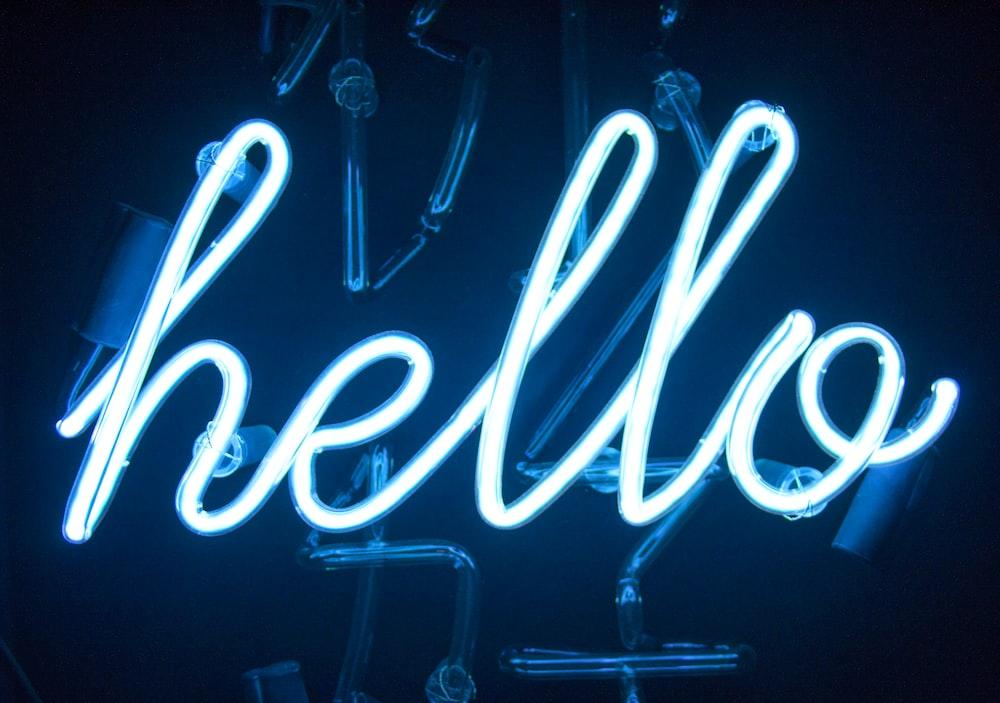 Hello Neon light signage