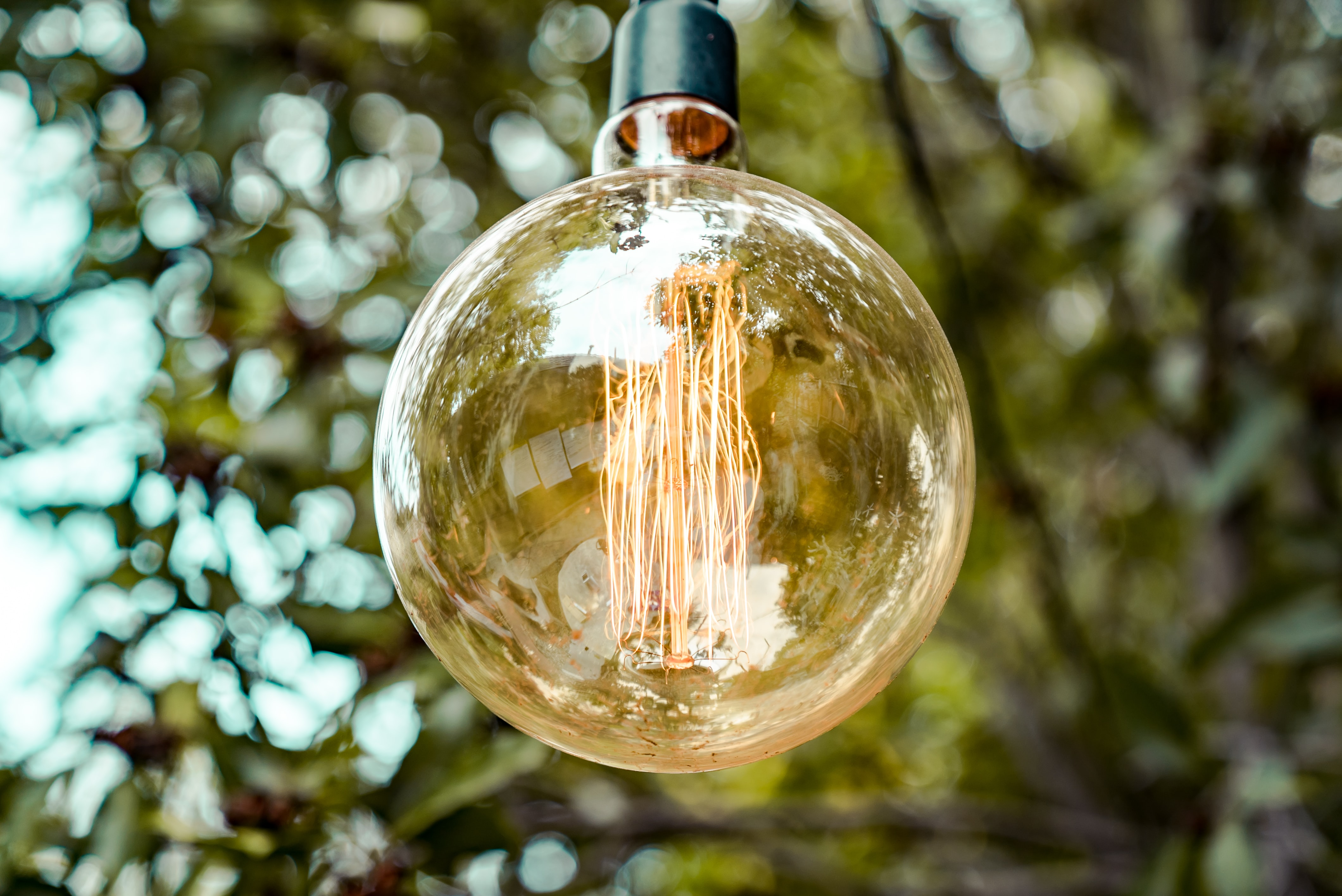 selective focus photography of LED bulb