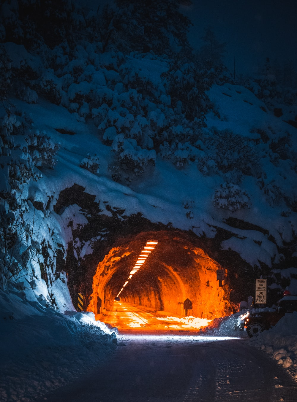 road tunnel in mountain