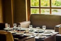 glass dining set