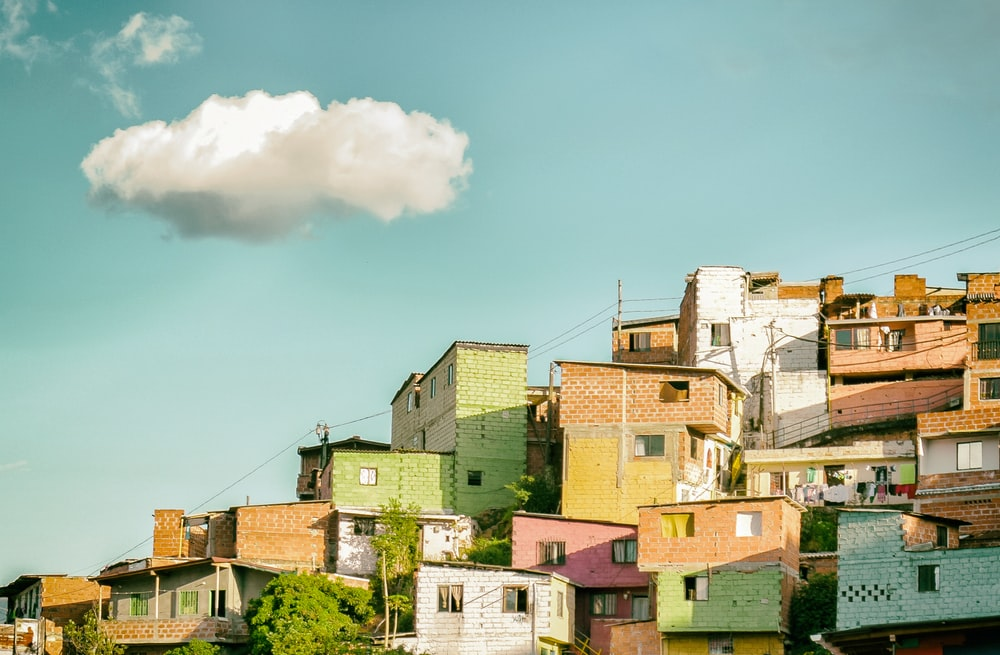 photo of concrete houses