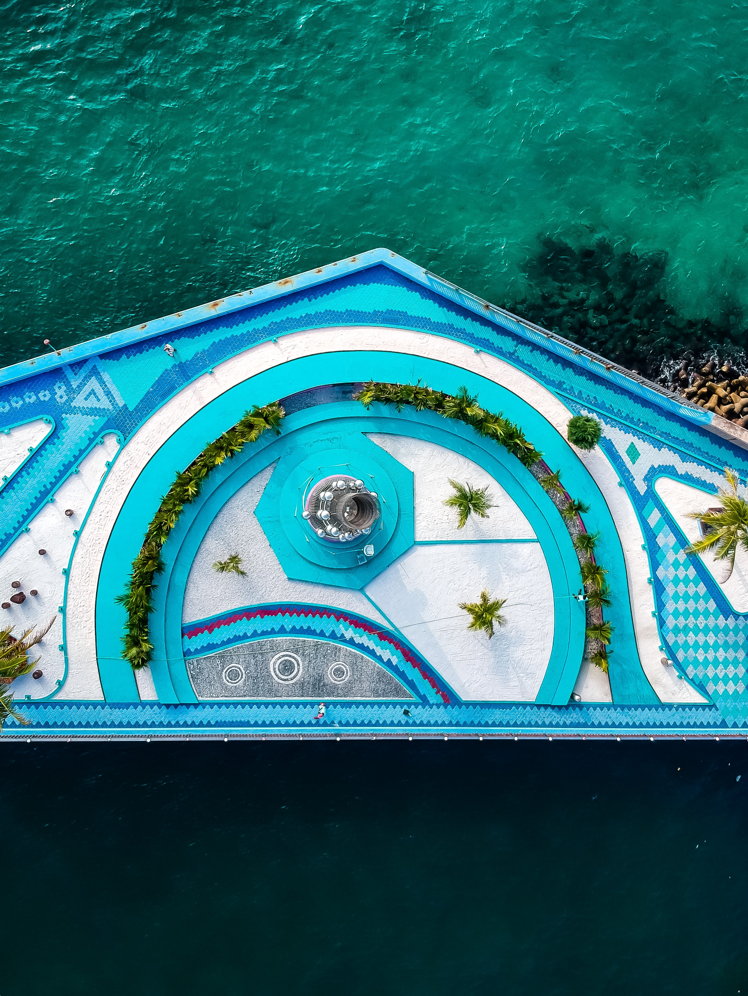 aerial photography of resort