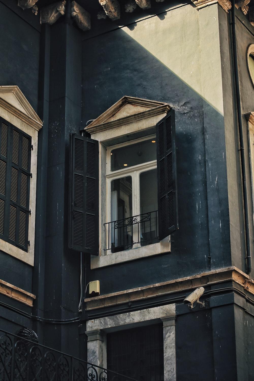 black steel window