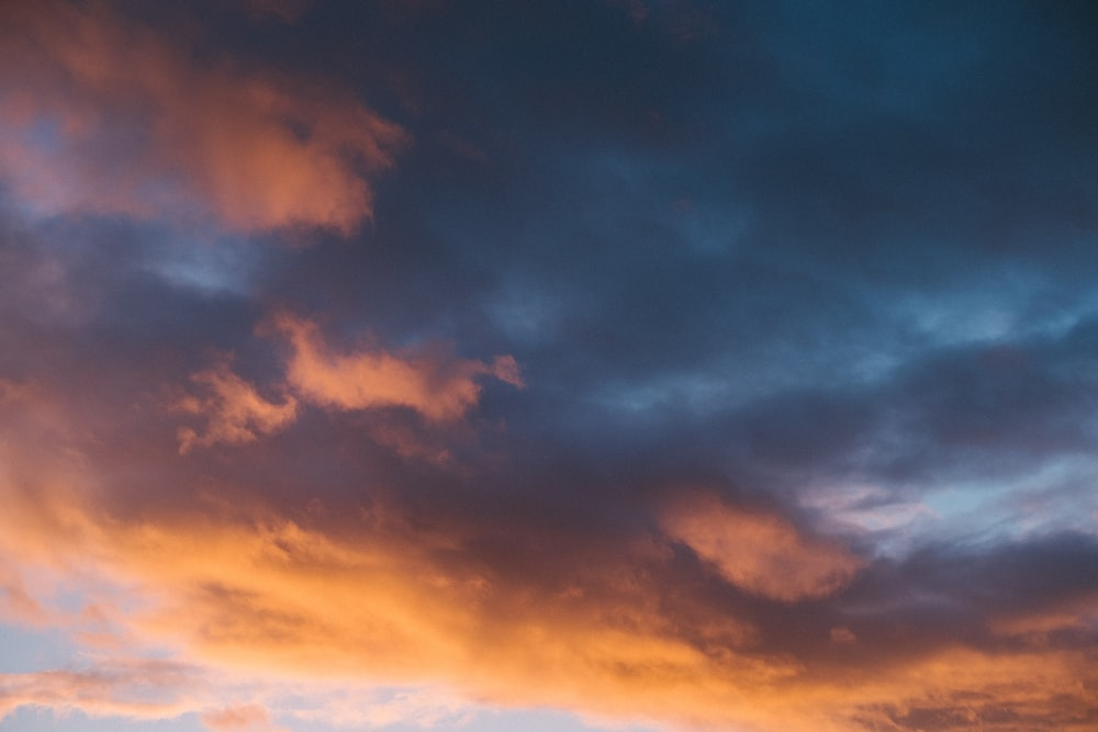 blue and orange clouds