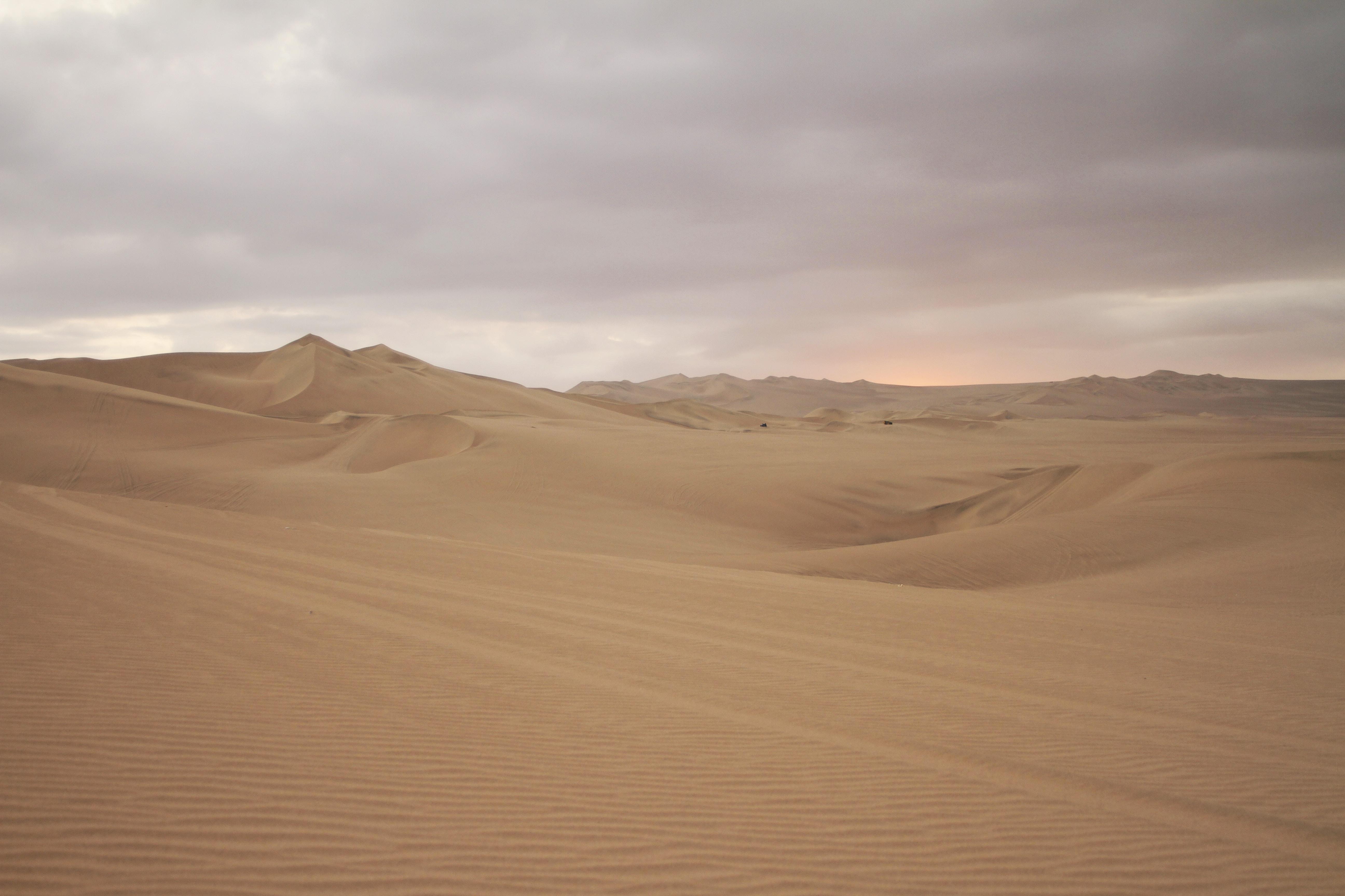 desert under cloudy sky