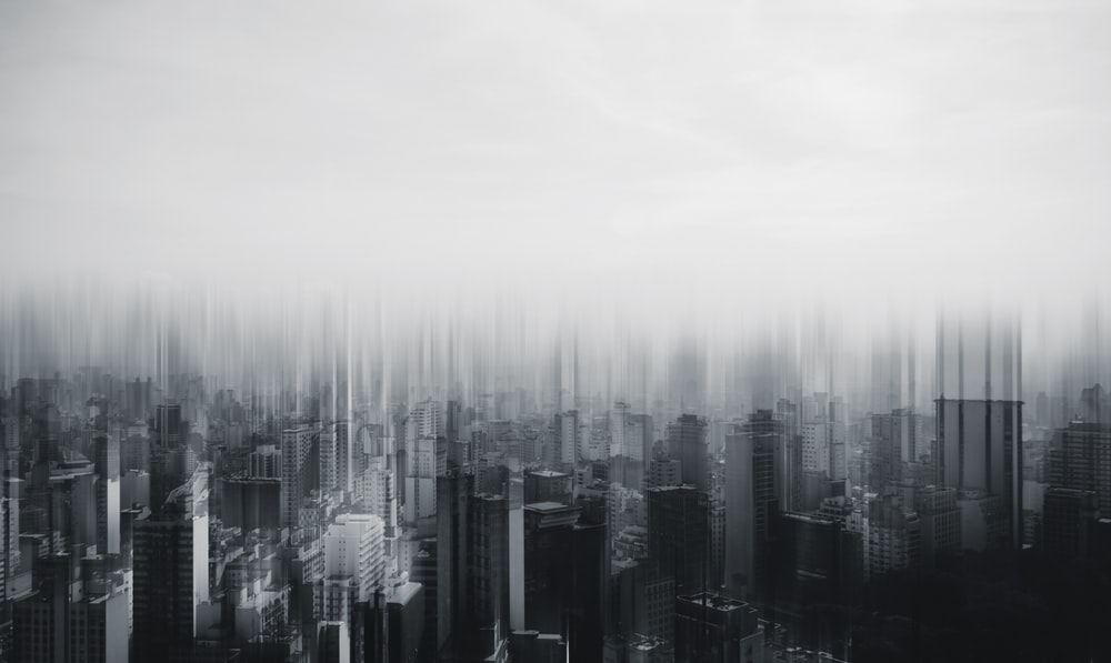 time lapse photography of city building