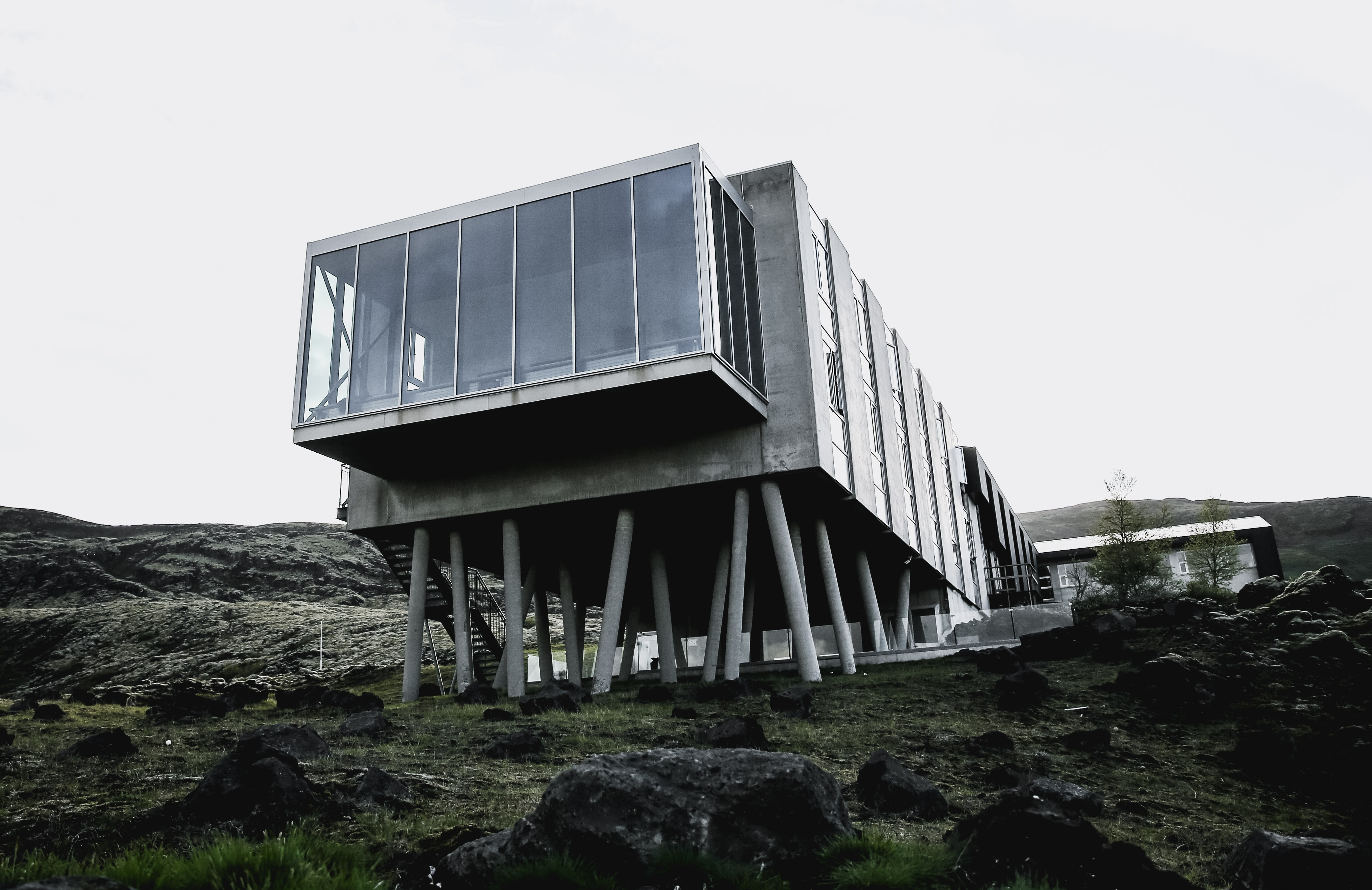 landscape photo of gray house during daytime