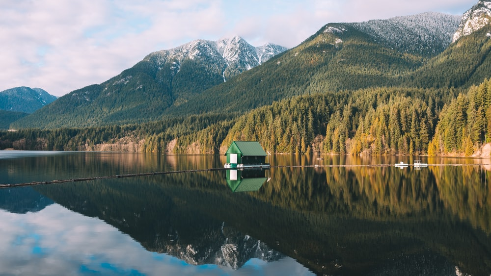 floating house on body of water