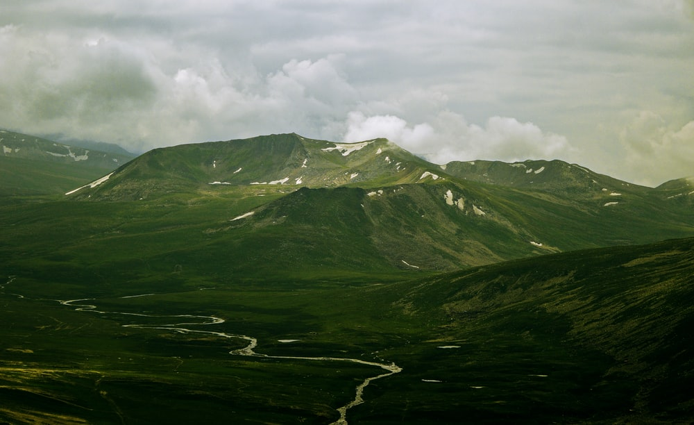 mountain under the skies