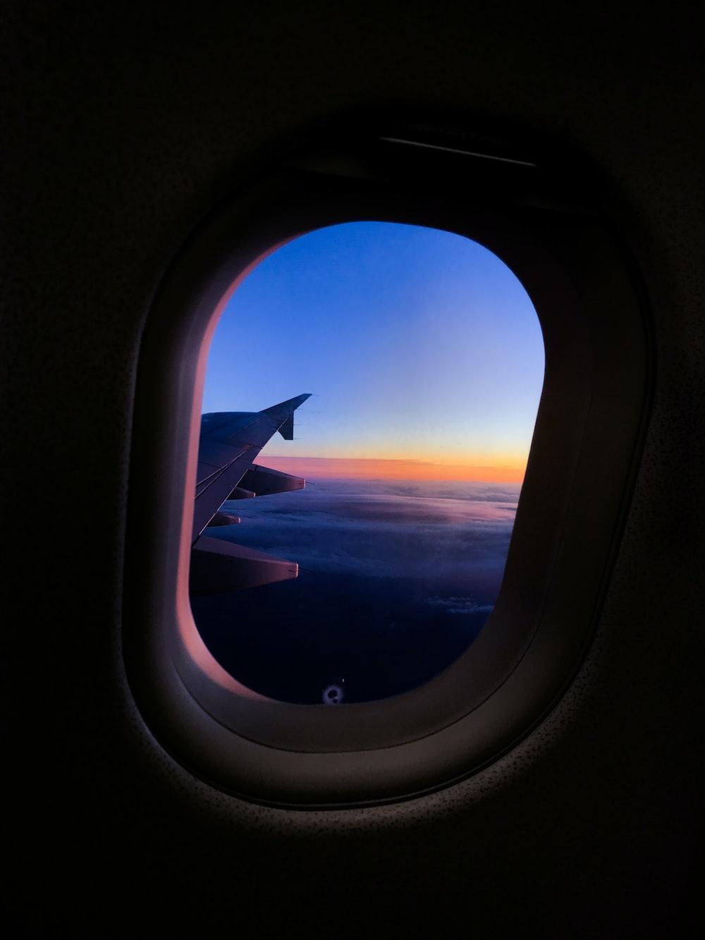 white plane on take off