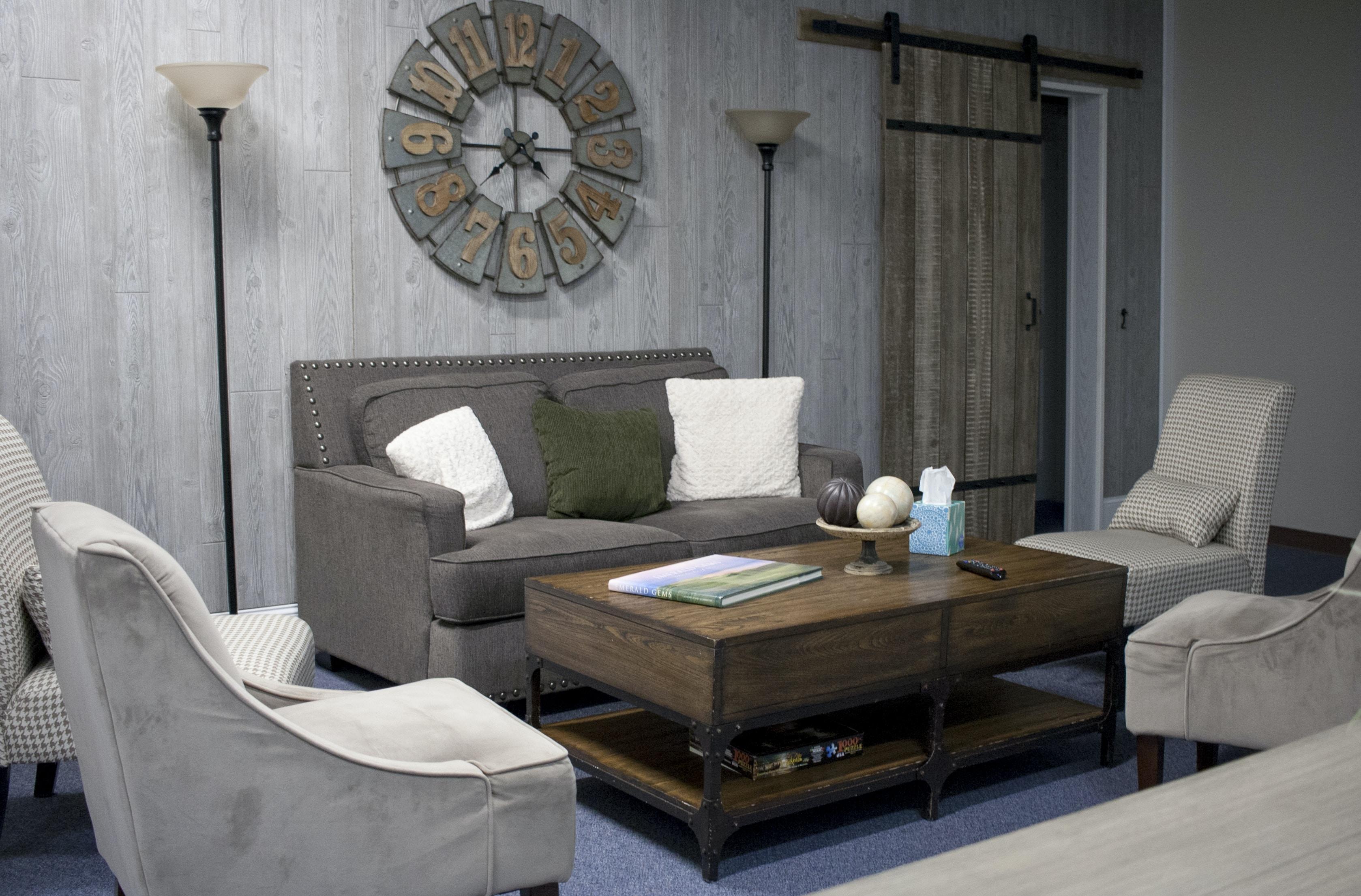 Rustic style living room interior design