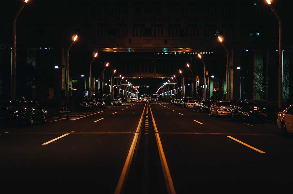 landscape photography of roadway