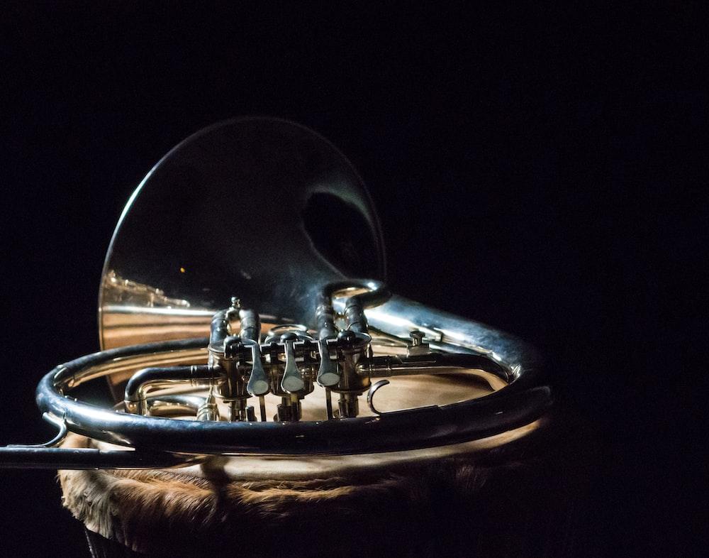silver wind instrument