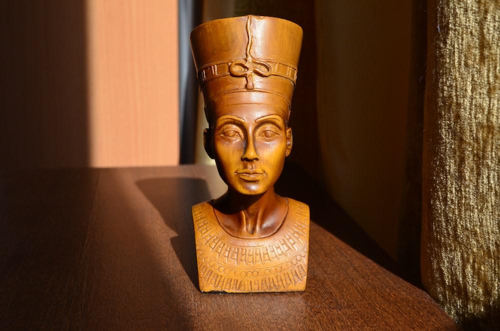 male mini head bust on table