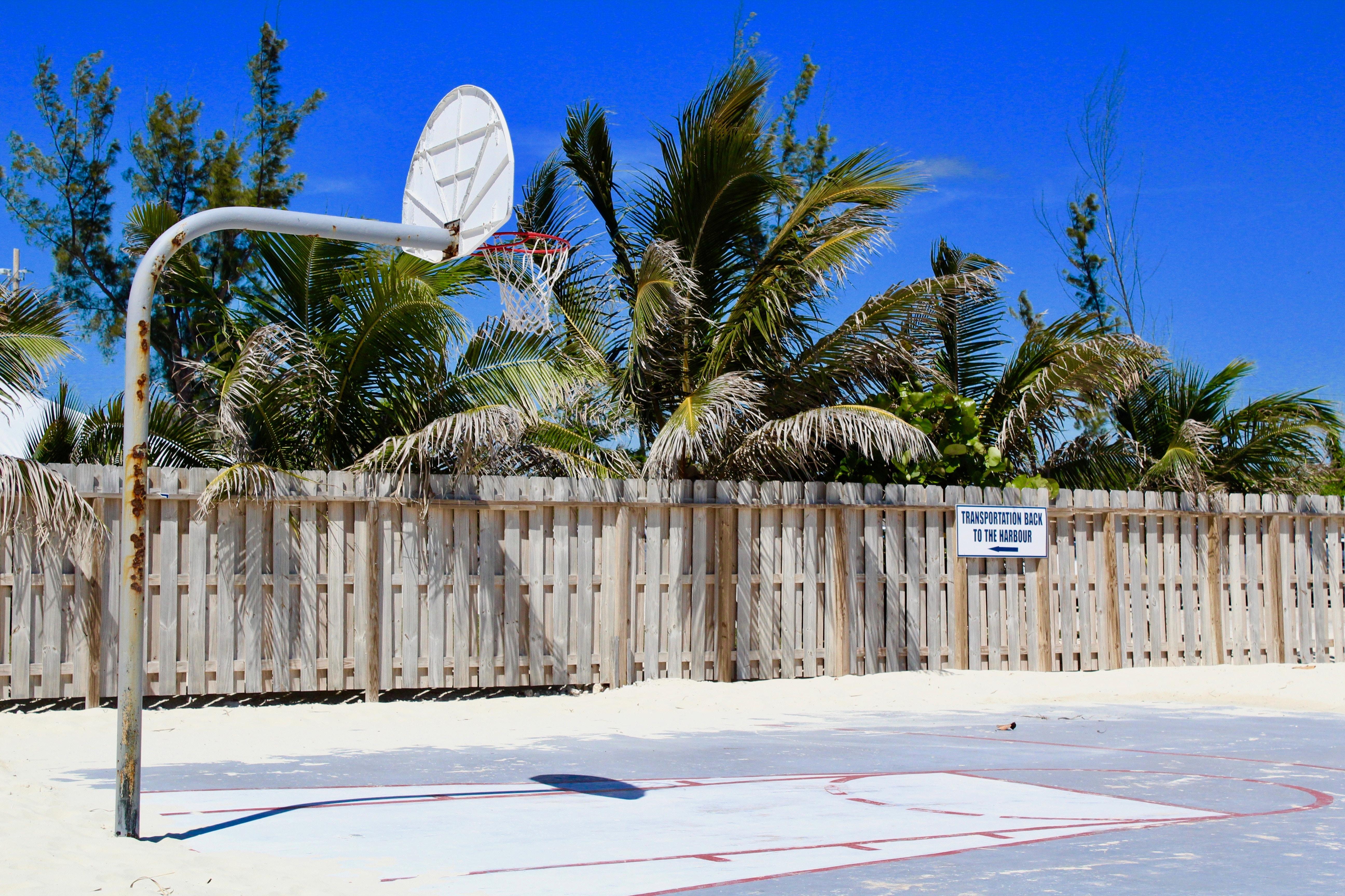 white basketball system