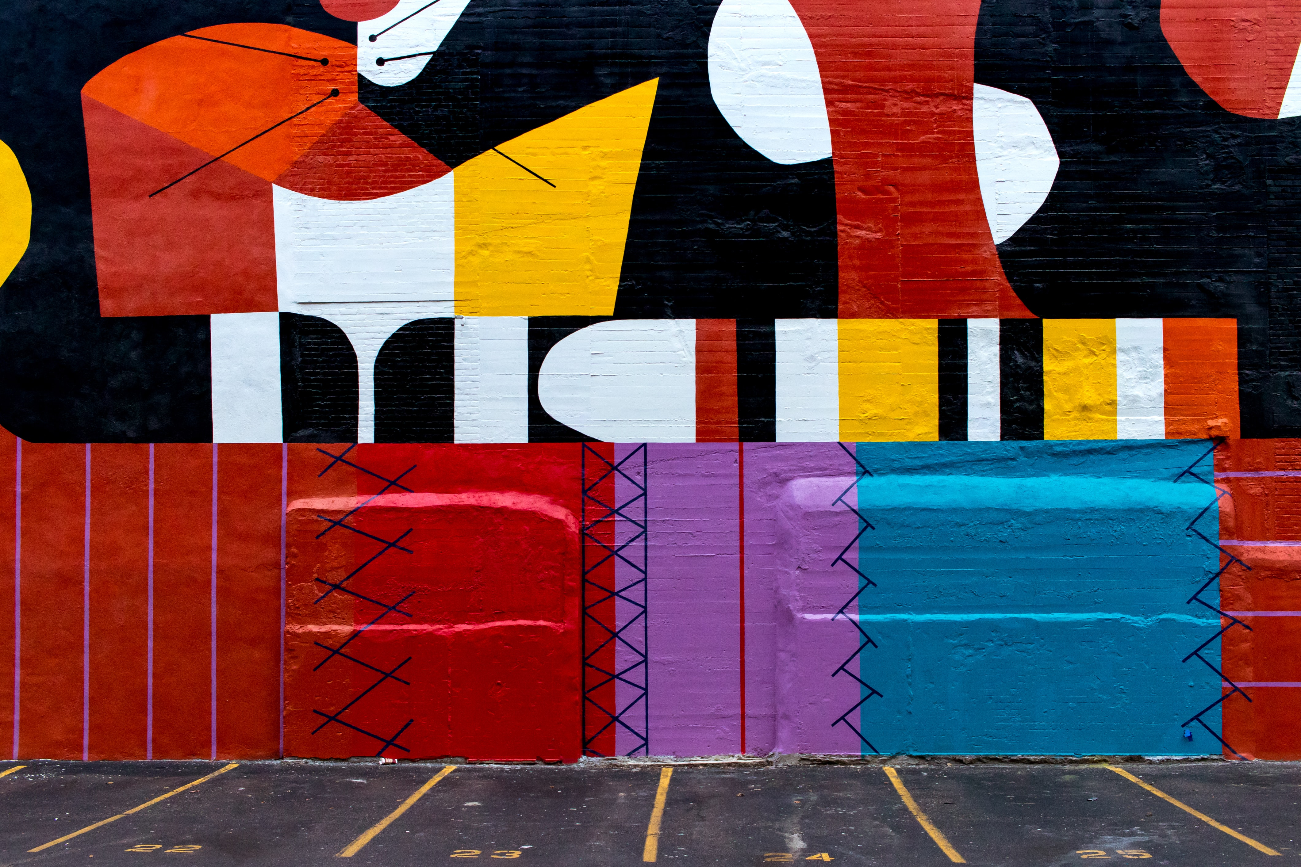 assorted-color wall