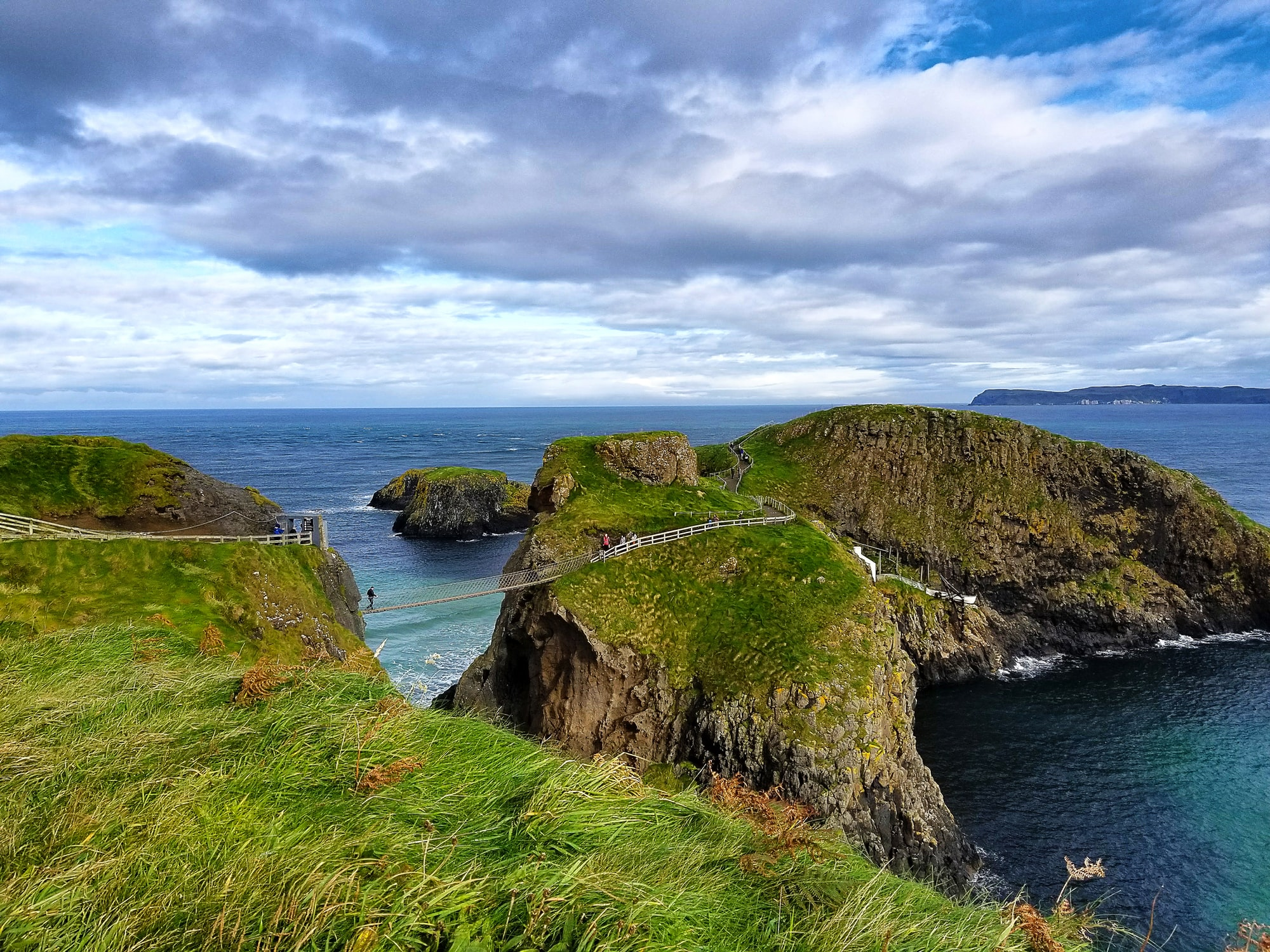 Up in Northern Ireland this tiny bridge is used to reach the island of Carrickarede.