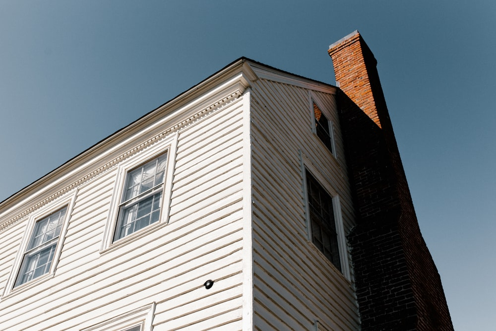 low angle photo of house
