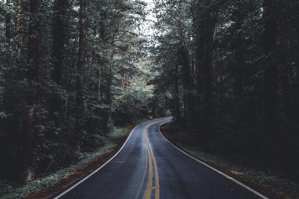 unused asphalt road