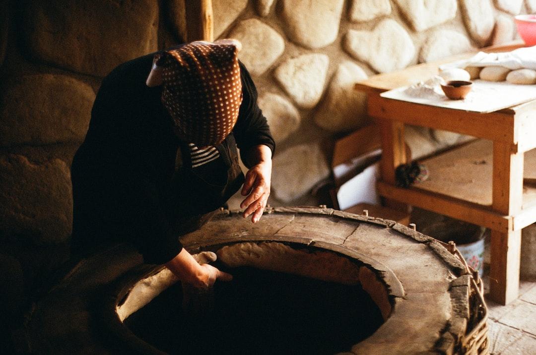 Making Shotis Puri, Sighnaghi, Georgia