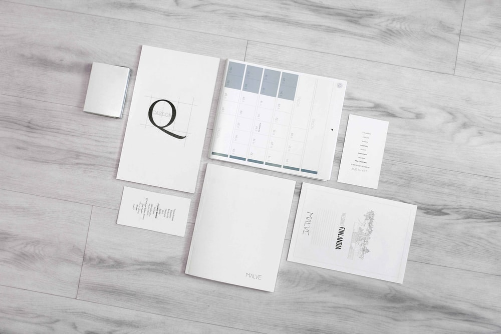 flat-lay photography of white printer papers
