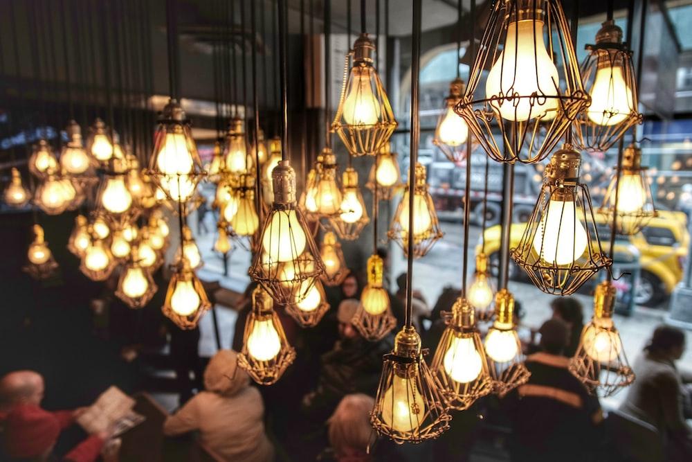pendant lamps inside building