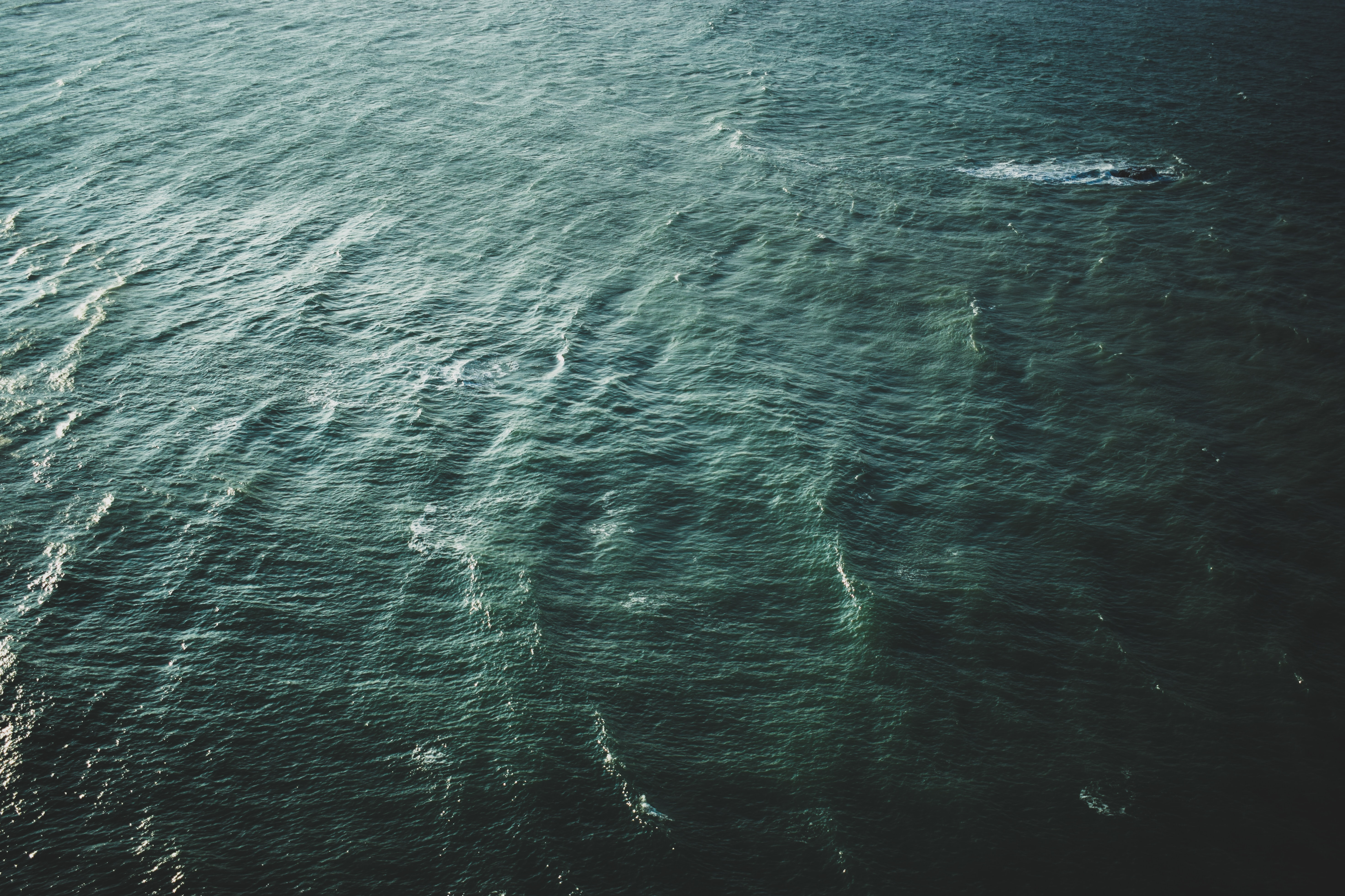 aerial photo of body of water during daytime