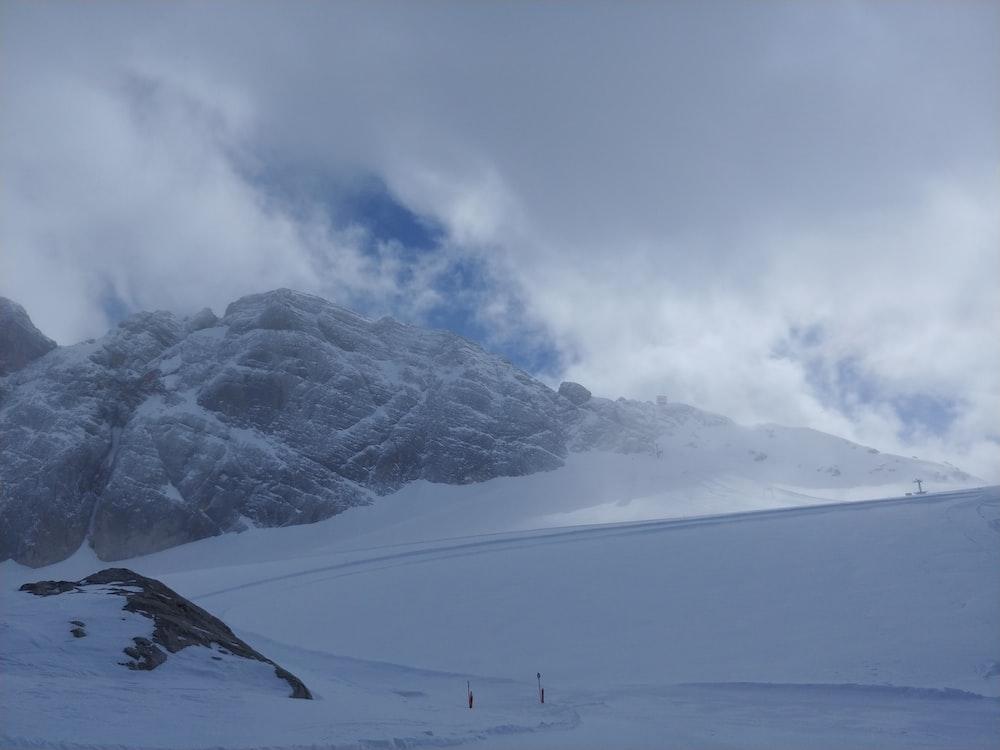 mountain during snow season