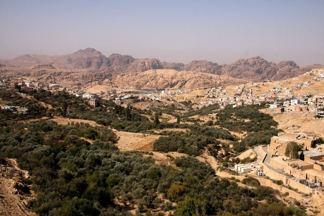 The town of Wadi Musa in Jordan - at the entrance to the lost city of Petra