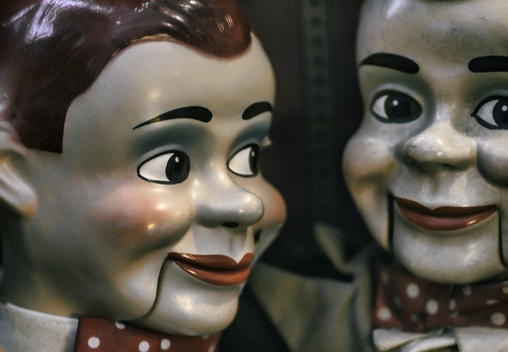 close-up photo of Goosebumps Slappy the Dummy ventriloquist doll