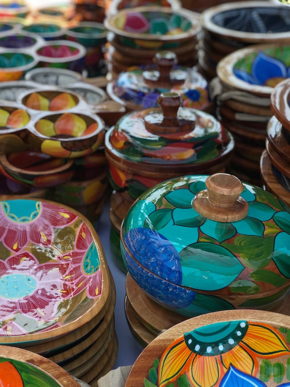 assorted ceramic bowl lot