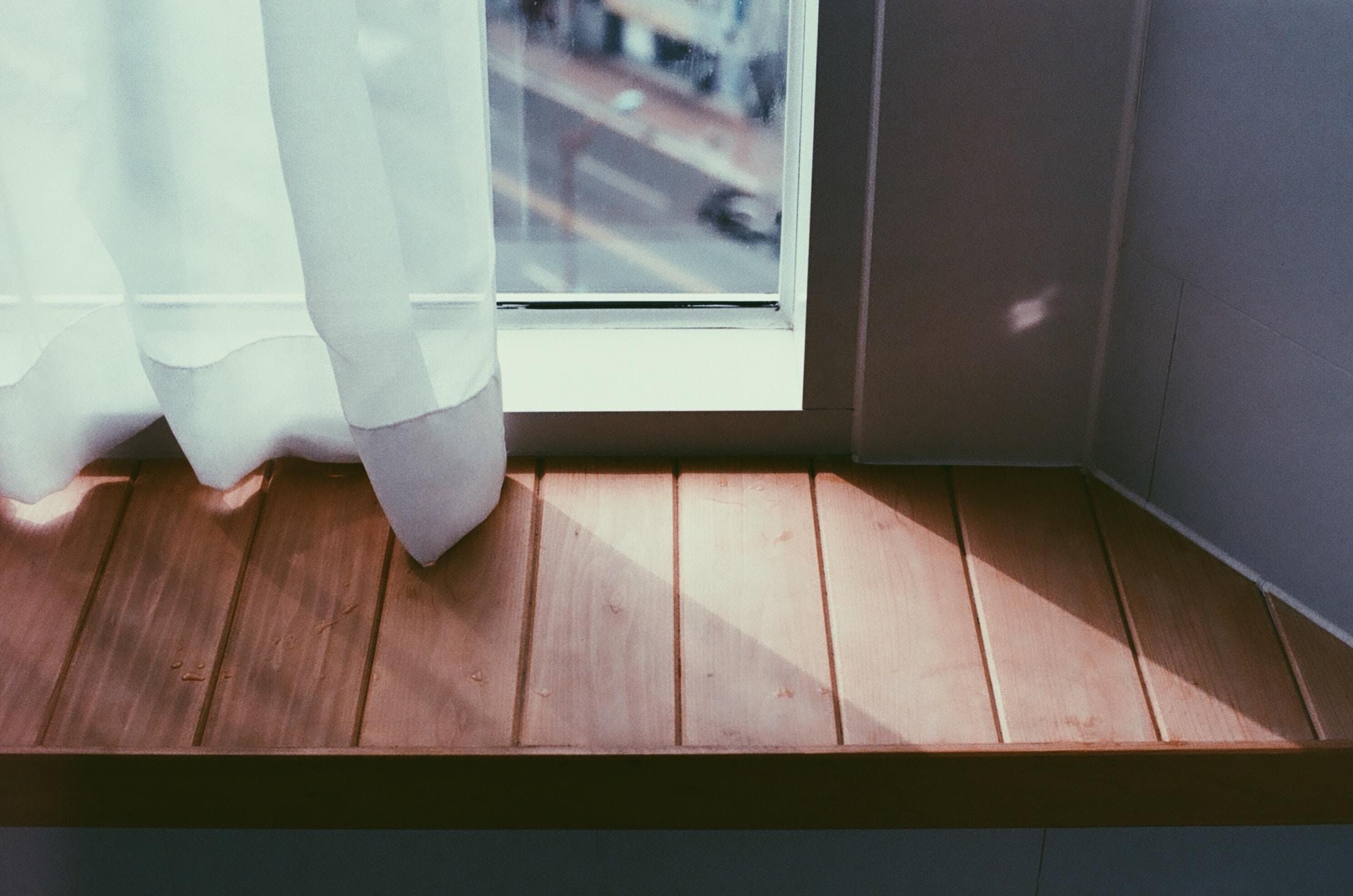 white window curtain