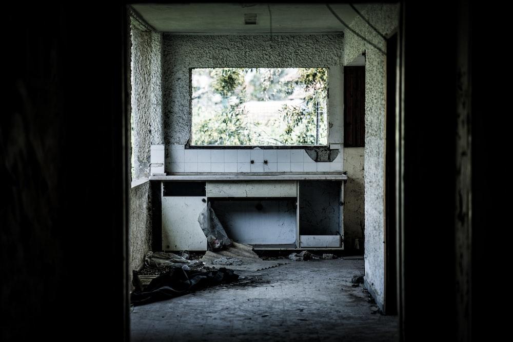 wrecked house kitchen