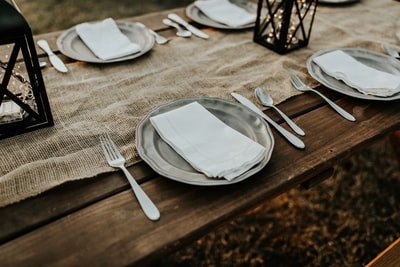 stainless steel plates farmhouse zoom background