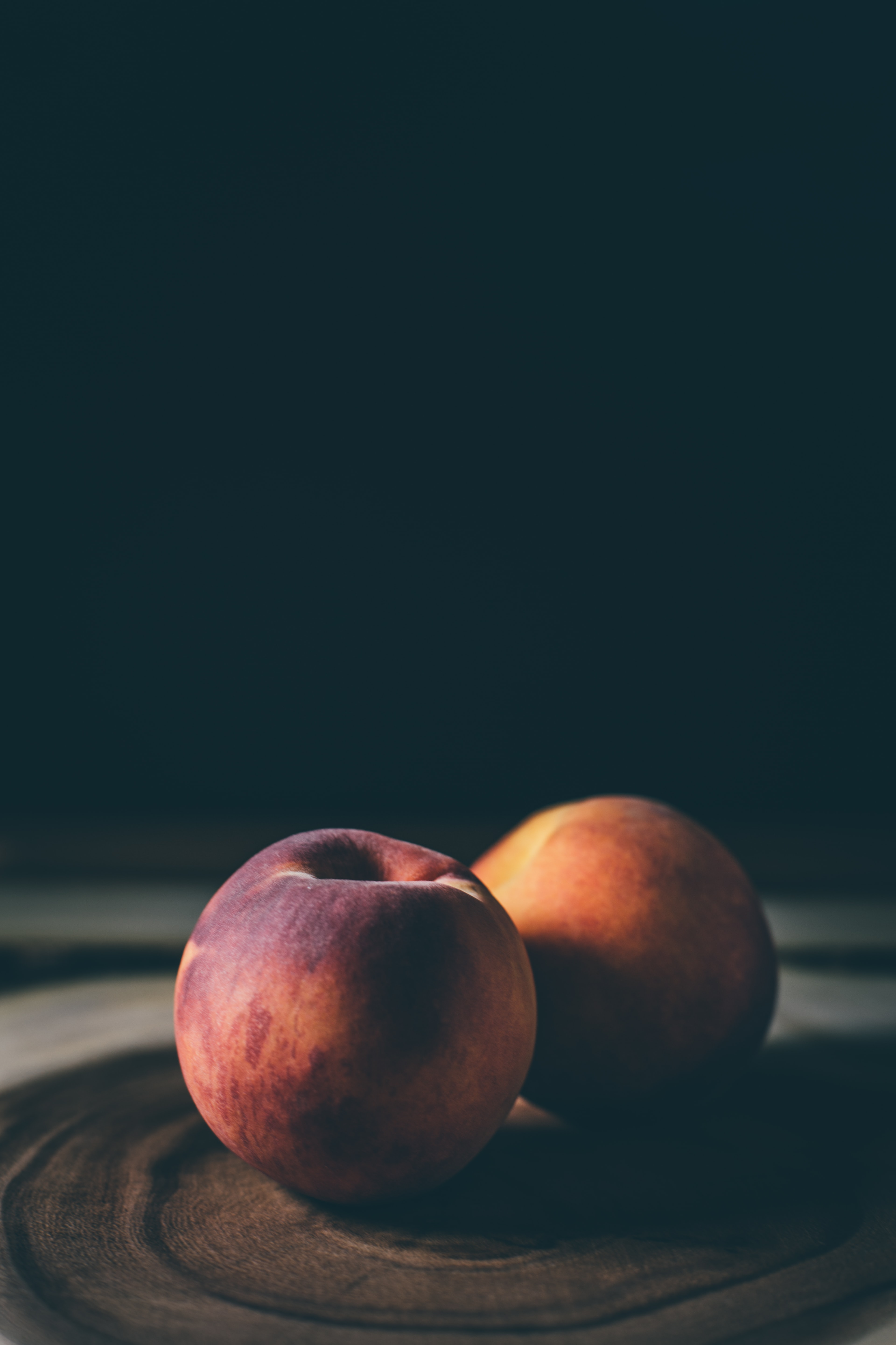 two apples on table