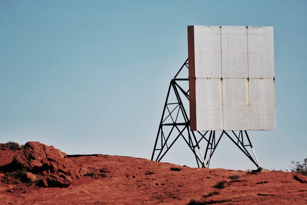 billboard on desert