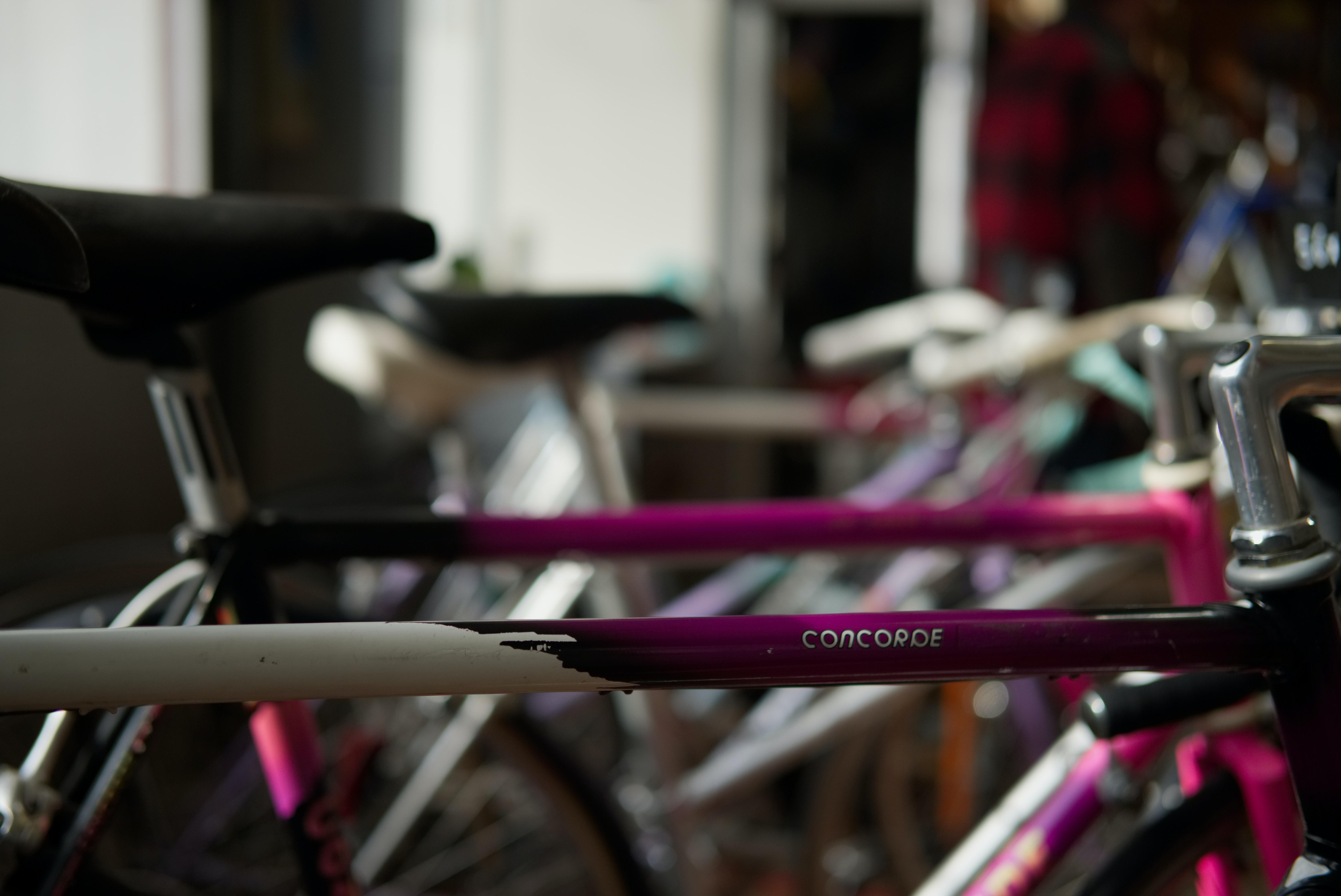 assorted-color bike lot inside room