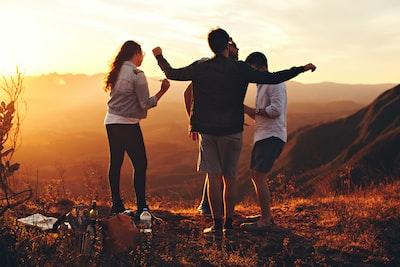 Group of friend enjoying a summer afternoon