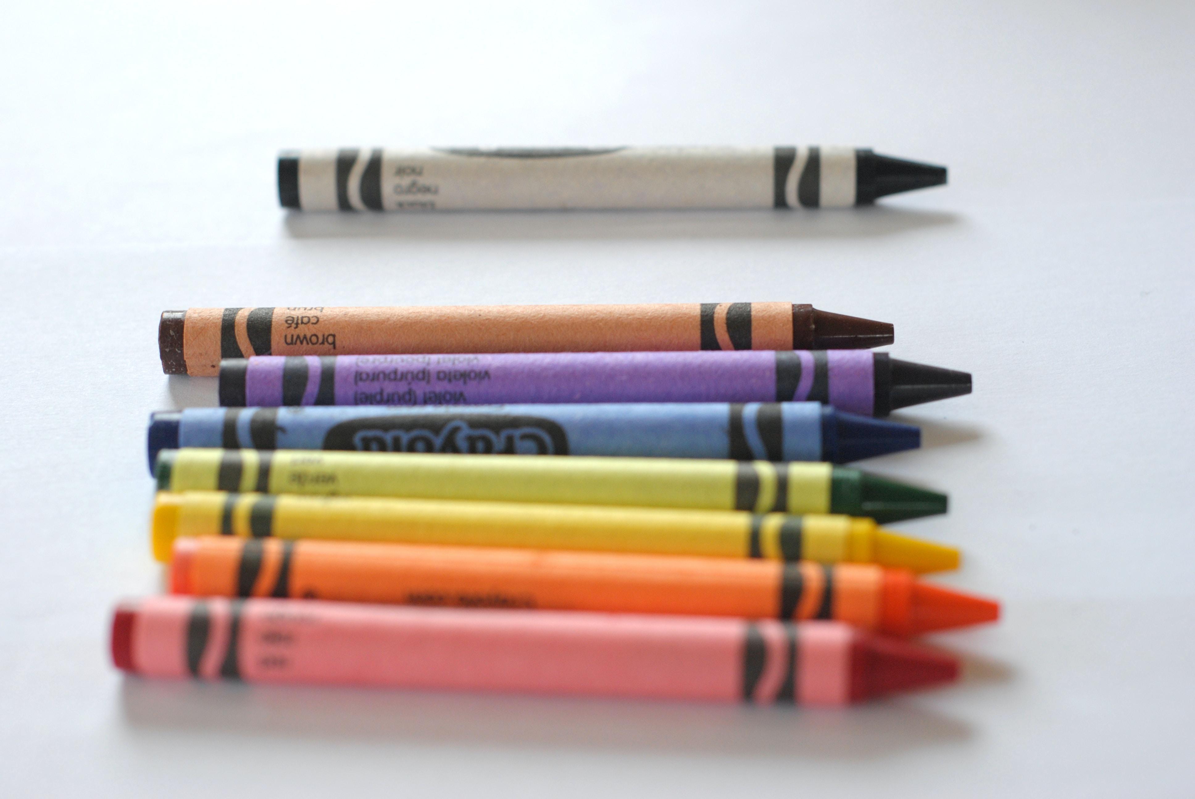 assorted-colored Crayola crayons