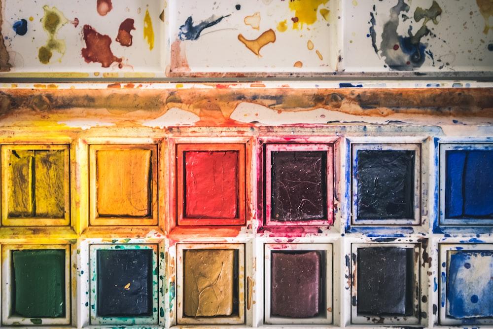 dry watercolor palette case