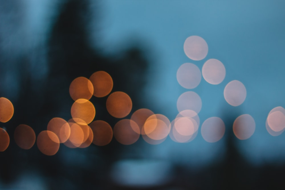bokeh photo of orange light