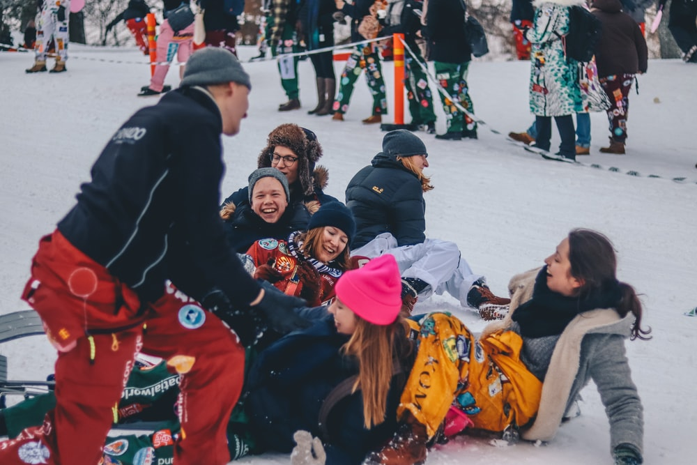 people on snow