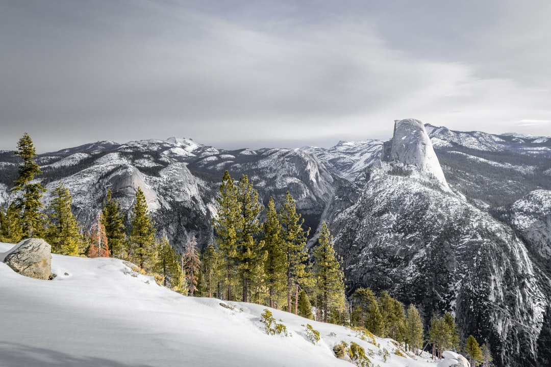 After an 11 mile hike in snowshoes and lugging a sled full of gear to the mountain top, we were finally rewarded with one of the most scenic views of Yosemite from an angle rarely seen in winter. A photo well worth the exhaustion!