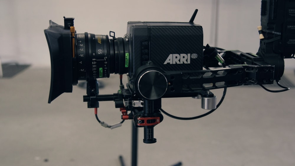 Arri video recorder in shallow focus lens