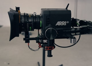 Arri video recorder in shallow focus lens
